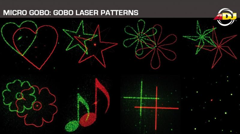 8 Different Gobo Patterns
